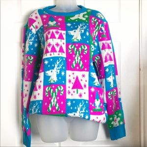 ✨CUTE✨ Ugly Christmas sweater turquoise pink